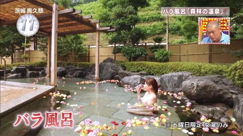 【温泉キャプ画像】こんな巨乳タレントと一緒に混浴したら絶対勃起する自信ありますw 11
