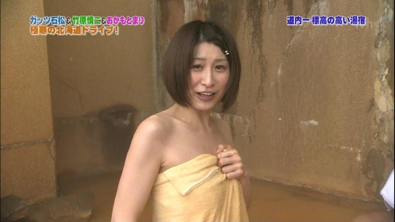 【温泉キャプ画像】こんな巨乳タレントと一緒に混浴したら絶対勃起する自信ありますw 23