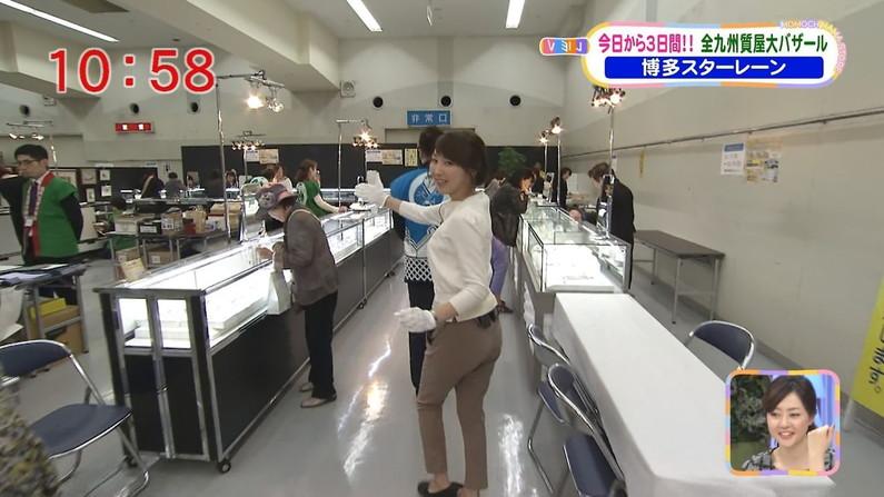 【お尻キャプ画像】女子アナ達のパンツラインまで浮き出ちゃってるピタパン姿エロすぎw 14