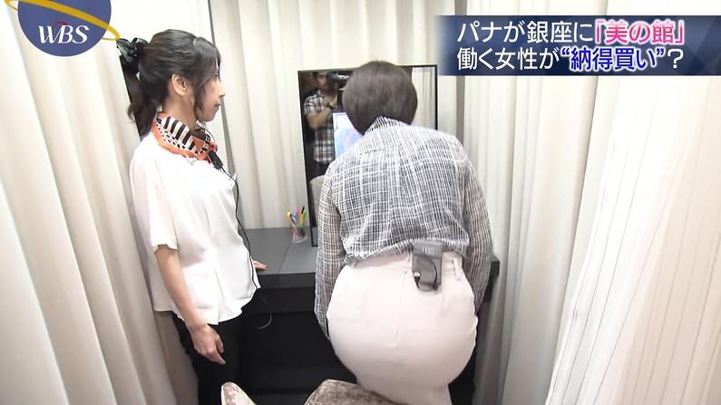 【お尻キャプ画像】女子アナ達のパンツラインまで浮き出ちゃってるピタパン姿エロすぎw 15