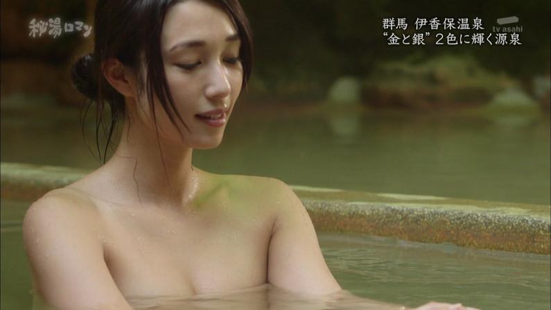 【温泉キャプ画像】美女達のやらしい谷間が気になる温泉レポ画像ww