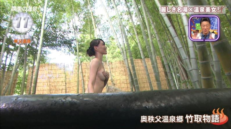 【温泉キャプ画像】ヤベー!!温泉レポで乳首まで見えかけてるぞww 01