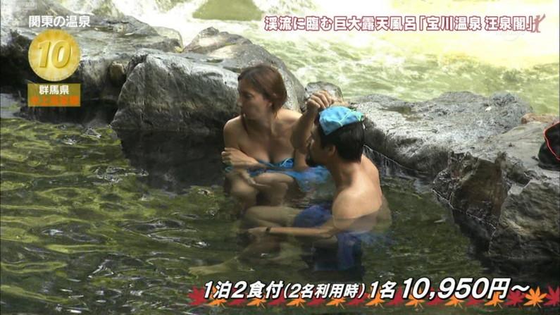 【温泉キャプ画像】ヤベー!!温泉レポで乳首まで見えかけてるぞww 13