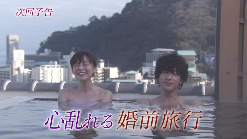 【温泉キャプ画像】ヤベー!!温泉レポで乳首まで見えかけてるぞww 24