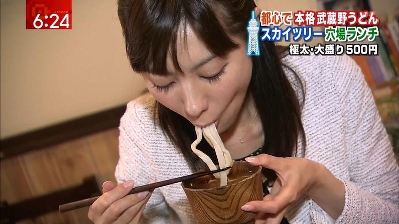 【疑似フェラキャプ画像】やっぱり食レポがどう見ても疑似フェラに見えてしまうエロい表情のタレント達w 16