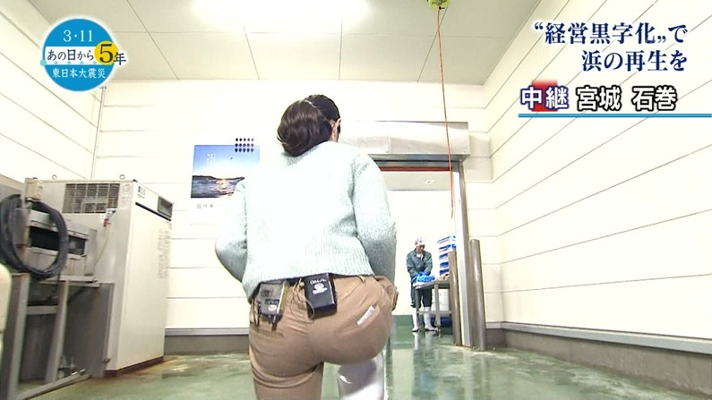 【お尻キャプ画像】ピッタリしたズボン履きすぎてパンツまで透けて見えてるタレントいてるしw 06