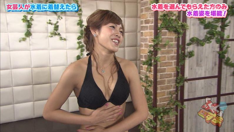 【水着キャプ画像】乳房はみ出しすぎなビキニ来てテレビに出てくるアイドル達w 16