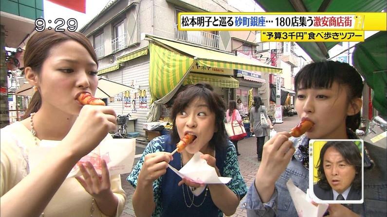 【疑似フェラキャプ画像】食べてるものがチ〇コに見えてきちゃうタレント達の食レポw 01