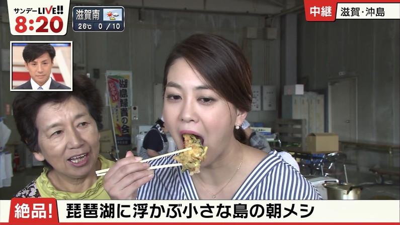 【疑似フェラキャプ画像】狙ってなのか、エロい顔で食レポするタレント達w 14