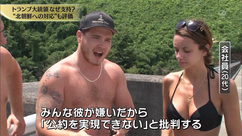 【水着キャプ画像】テレビに映った巨乳美女のビキニ姿がマジやばいw 04