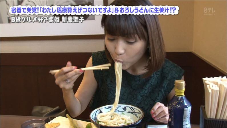 【疑似フェラキャプ画像】フェラしてる時の顔にそっくりな顔して食レポする女子アナ達w 04