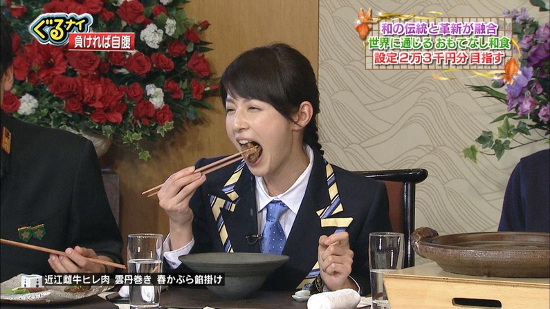 【疑似フェラキャプ画像】食レポしてるだけなんだけど卑猥な顔にしか見えないタレント達の表情w 01