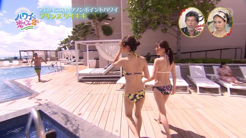 【お尻キャプ画像】タレント達の水着からはみ出したお尻がエロすぎる件ww 13
