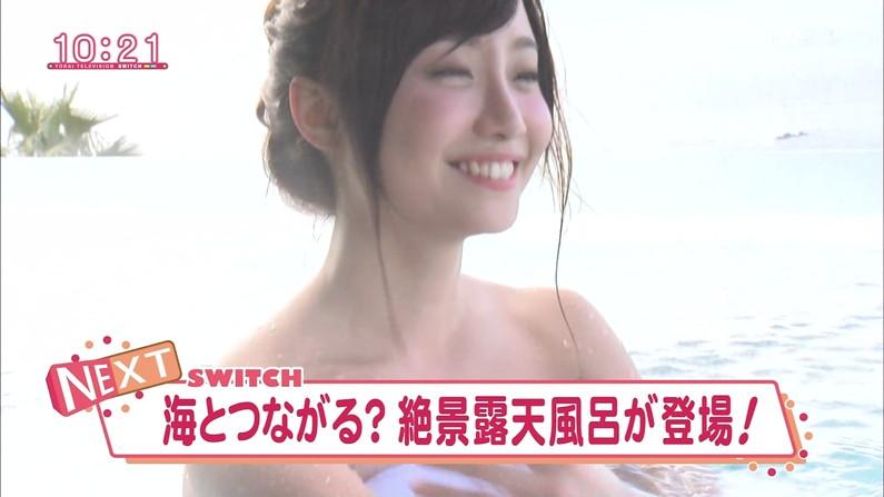 【温泉キャプ画像】必ずと言っていいほど温泉番組で巨乳アピールしてくるタレント達w 01