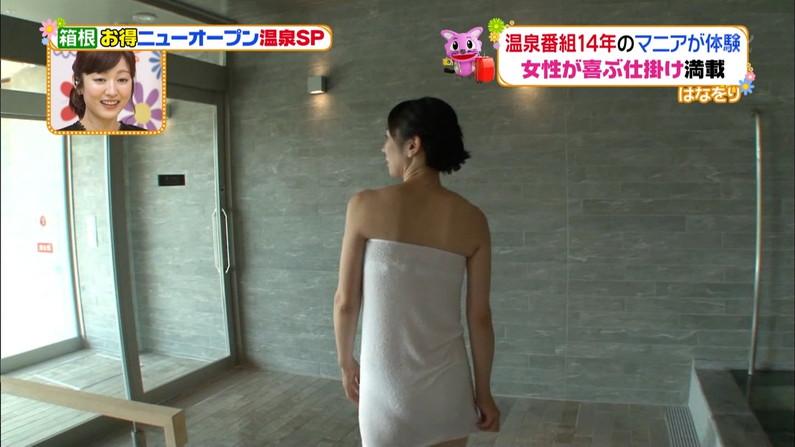 【温泉キャプ画像】必ずと言っていいほど温泉番組で巨乳アピールしてくるタレント達w 20