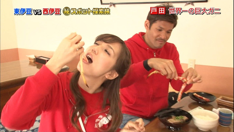 【疑似フェラキャプ画像】食レポの時必ずと言っていいほどフェラ顔になっちゃうタレント達w 06