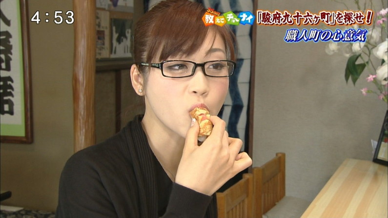 【疑似フェラキャプ画像】食レポの時必ずと言っていいほどフェラ顔になっちゃうタレント達w 24