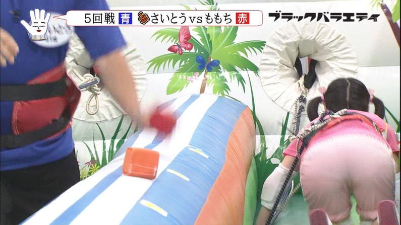 【お尻キャプ画像】ピタパン履いたタレント達がパンツラインまで見えちゃってるw 23