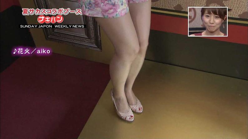 【美脚キャプ画像】タレント達のスラット伸びる美脚がエロくてたまらんw 11