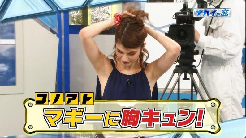 【脇キャプ画像】ムダ毛なんか一本も生えてないタレント達の綺麗な脇マ〇コw 04