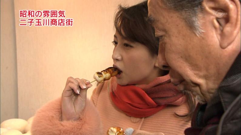 【疑似フェラキャプ画像】なぜいつもそんなやらしい顔して食レポしてるんでしょうね?w 17