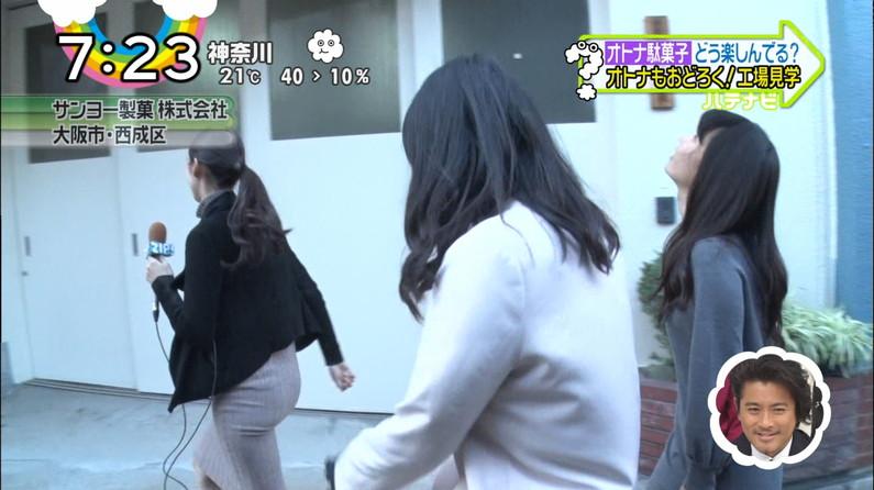 【お尻キャプ画像】タレント達のパンツラインまで出ちゃってるムチムチなお尻をテレビで放送w 24