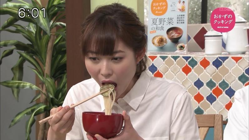 【疑似フェラキャプ画像】食レポする表情がエロすぎるタレント達w 11