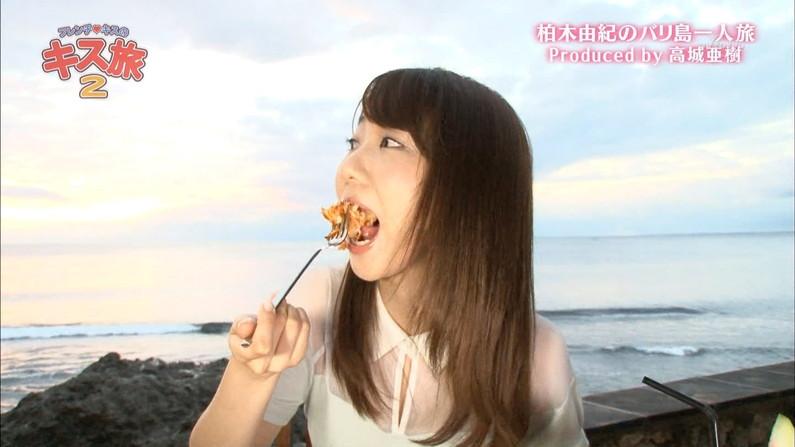 【疑似フェラキャプ画像】食レポする表情がエロすぎるタレント達w 18