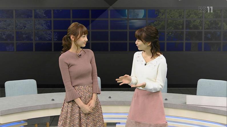 【着衣オッパイキャプ画像】女子アナ達がニットセーターでオッパイ強調し過ぎな件ww 22
