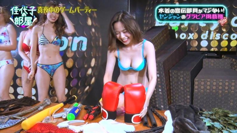 【水着キャプ画像】寒かろうが巨乳タレントはいつだって水着になるんだよww 04