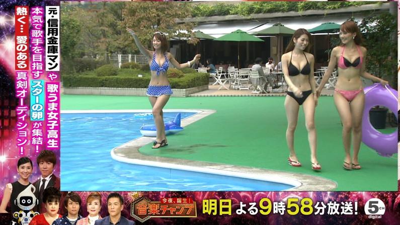 【水着キャプ画像】寒かろうが巨乳タレントはいつだって水着になるんだよww 11