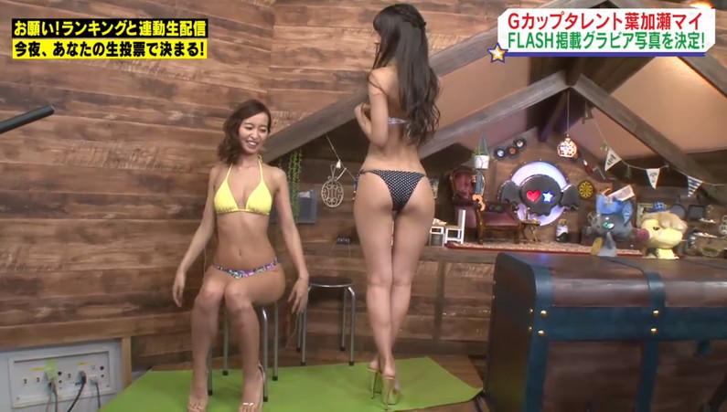 【お尻キャプ画像】テレビに映った水着からはみ出すお尻がエロくてたまらんww 21