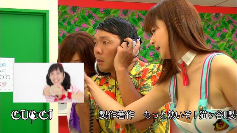 【胸ちらキャプ画像】大きくて柔らかそうなタレント達のオッパイがテレビに映りまくりw 24