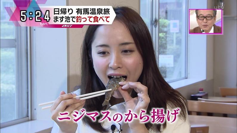【疑似フェラキャプ画像】あざとくフェラ顔しながら食レポするタレント達w 01