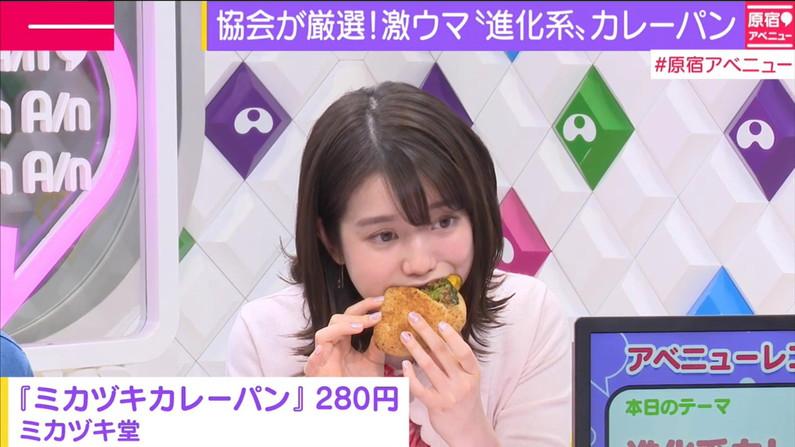 【疑似フェラキャプ画像】あざとくフェラ顔しながら食レポするタレント達w 03