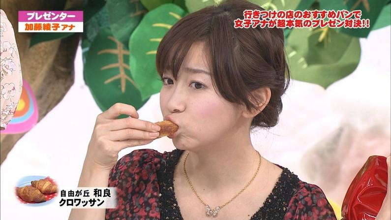 【疑似フェラキャプ画像】あざとくフェラ顔しながら食レポするタレント達w 12