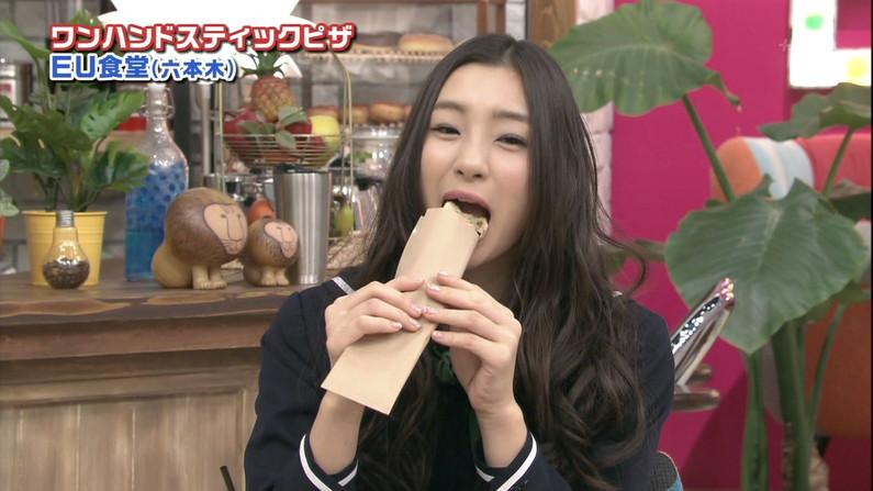 【疑似フェラキャプ画像】タレント達がやらしい顔しながら食レポする様子がエロすぎww 04