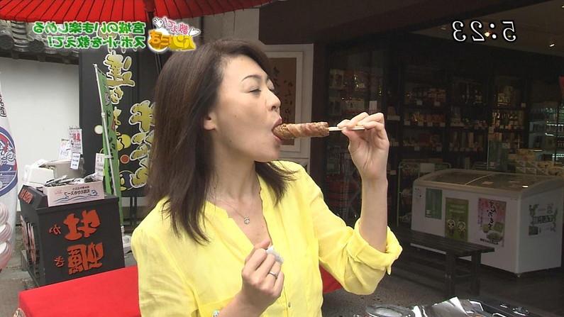 【疑似フェラキャプ画像】タレント達がやらしい顔しながら食レポする様子がエロすぎww 06