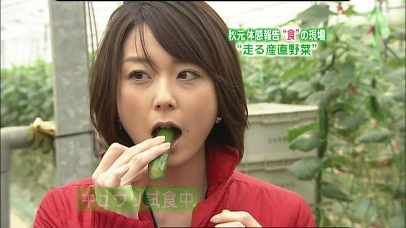 【疑似フェラキャプ画像】タレント達がやらしい顔しながら食レポする様子がエロすぎww 21