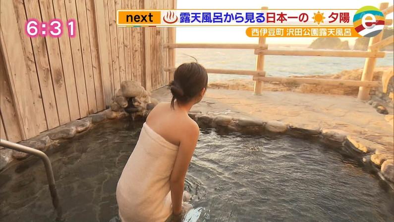 【温泉キャプ画像】温泉レポでバスタオル透けそうになってないか?ww 21