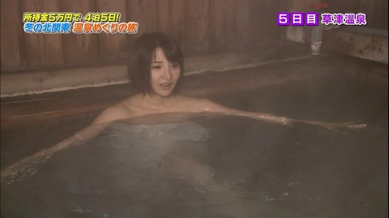 【温泉キャプ画像】温泉レポでバスタオル透けそうになってないか?ww 24