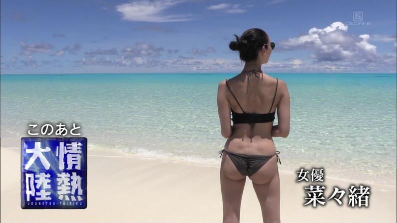 【お尻キャプ画像】テレビに出てくる水着美女達がハミ尻し過ぎな件ww 15