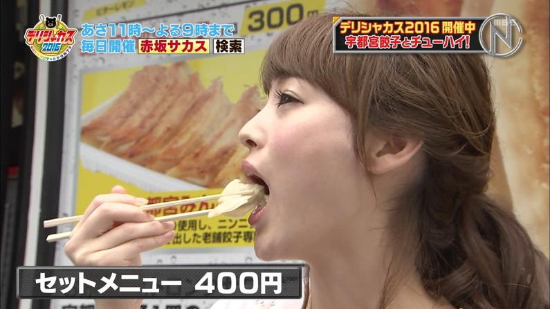【疑似フェラキャプ画像】ついついやらしい目で見てしまうタレントさん達の食レポw 19
