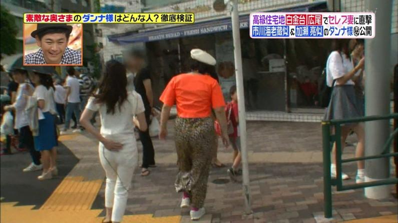 【お尻キャプ画像】ピタパン履いてパンツラインまでくっきり出ちゃってるタレント達w 12