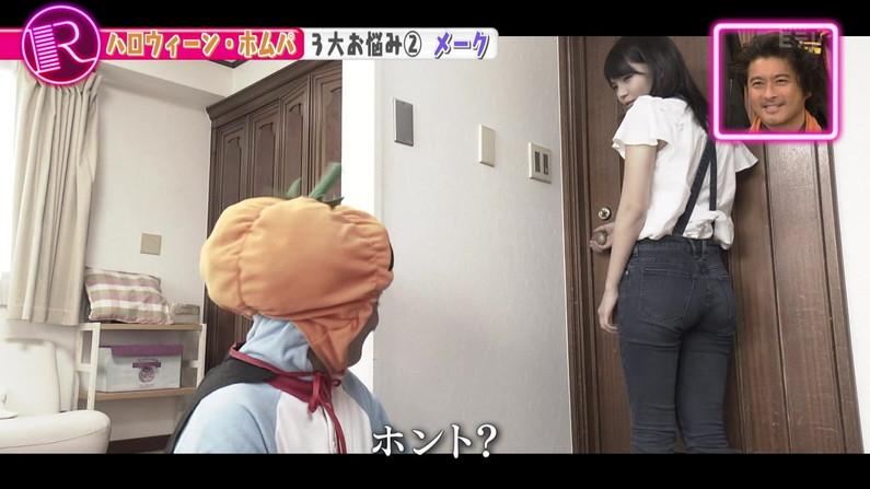 【お尻キャプ画像】ピタパン履いてパンツライン透け透けなタレント達w 19