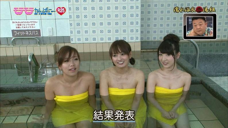 【温泉キャプ画像】ハミ乳しながら温泉レポするタレント達ってエロいよなwww 10