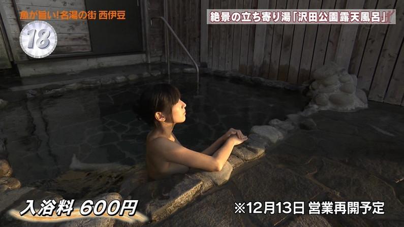 【温泉キャプ画像】ハミ乳しながら温泉レポするタレント達ってエロいよなwww 15