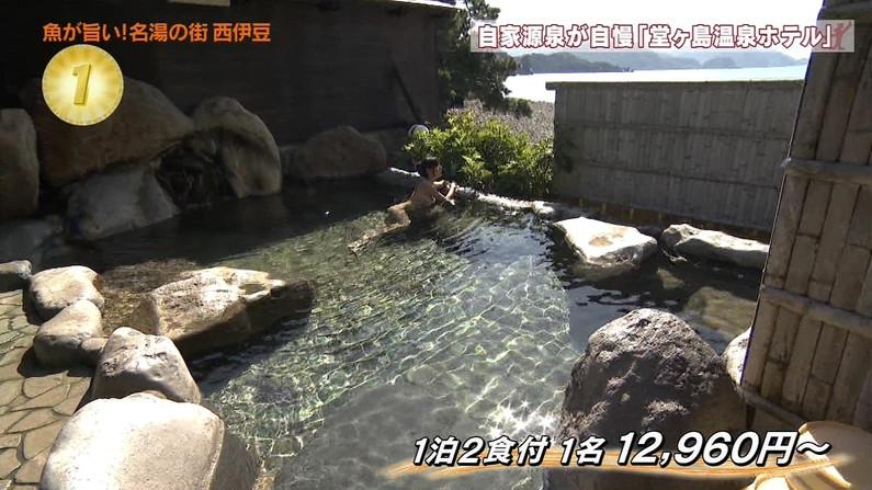 【温泉キャプ画像】ハミ乳しながら温泉レポするタレント達ってエロいよなwww 18