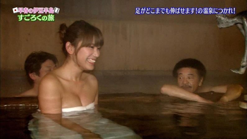 【温泉キャプ画像】女子アナまでもがエロい谷間見せながら温泉レポしちゃってるぞww 10