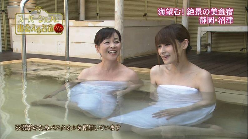 【温泉キャプ画像】女子アナまでもがエロい谷間見せながら温泉レポしちゃってるぞww 18